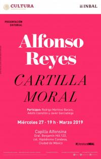 Miércoles 27 a las 19:00 en la Capilla Alfonsina: presentación de la Cartilla moral