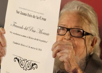 Otorgan premio Sor Juana Inés de la Cruz a Fernando del Paso