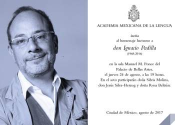 Un año sin Ignacio Padilla, homenaje luctuoso este jueves 24 de agosto en Bellas Artes