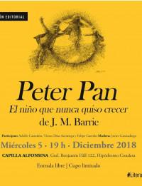 Miércoles 5 de diciembre: Peter Pan en la Capilla Alfonsina con Felipe Garrido, Adolfo Castañón, Javier Garciadiego y Víctor Díaz Arciniega)
