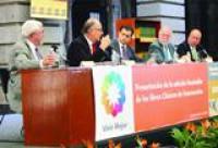 """Don Vicente Quirarte y don Felipe Garrido, director adjunto de la Academia Mexicana de la Lengua, presentaron los """" Clásicos Verdes"""""""