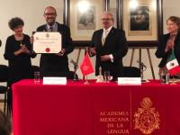 Rodrigo Martínez Baracs ingresó a la Academia Mexicana de la Lengua